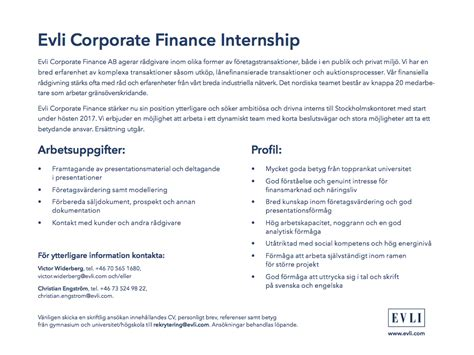 corporate finance internships corporate finance intern