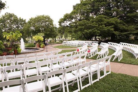 pgh outdoor garden wedding ceremony at phipps phipps