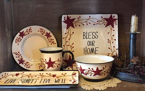 dishware primitive star quilt shop