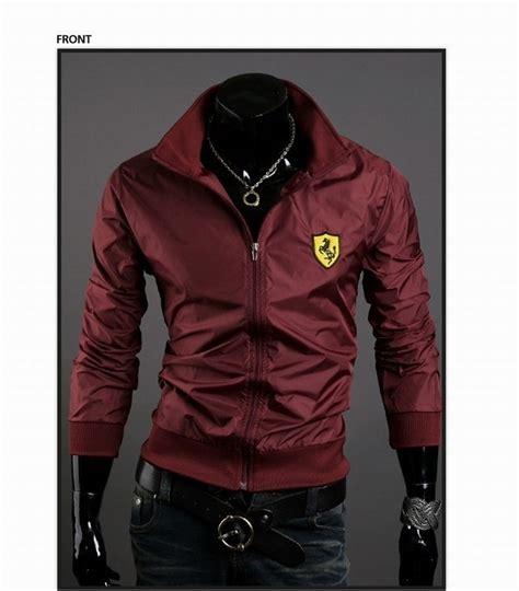 slim fit ferrari windbreaker jacket  style