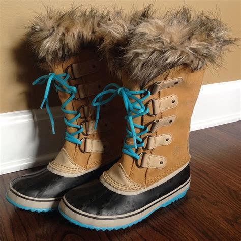 Rubber Carpets by Sorel Joan Of Arctic Curry Turquoise Blue Boot Size 9m
