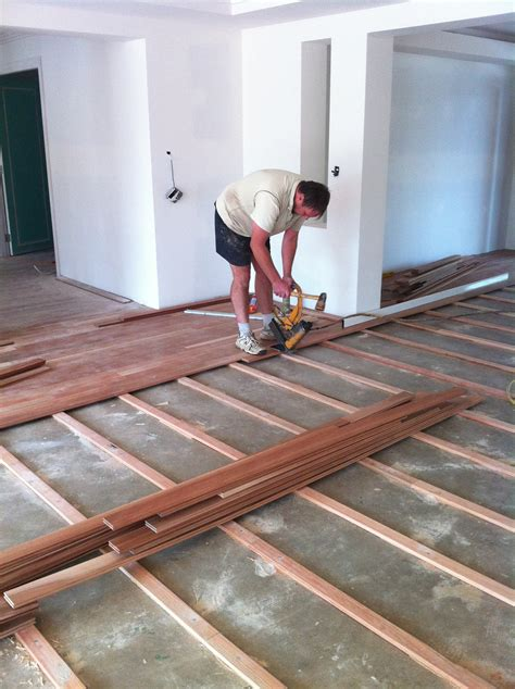 can you install hardwood floors on concrete slab timber flooring installation timber floors australia