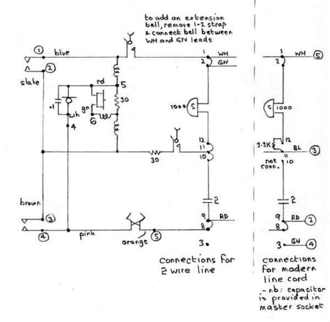 Modern Telephone Wiring Diagram by Dean Forest Railway Telecoms