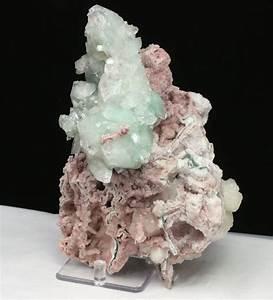 Green Apophyllite & Pink Chalcedony – Raj Minerals Inc