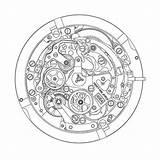 Primero Zenith El Watchtime Caliber Modern Eye Guy Drawing Clock Calendar Annual Watchbase Winsor Craft Smoked Watches sketch template