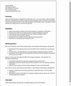 emergency management resume template best design tips With cover letter for emergency management position