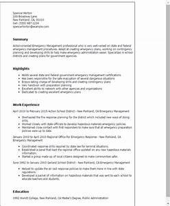 Emergency management resume template best design tips for Cover letter for emergency management position