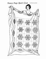 Quilt Coloring Pages Embroidery Patterns Pattern Designs Snowflake Winter Embroidered Needlework Christmas Printable Sheets Quilting Nancy Block Club Preschooler Schmitz sketch template