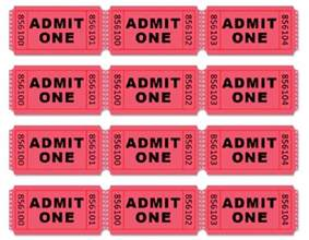 Admit One Tickets Printable