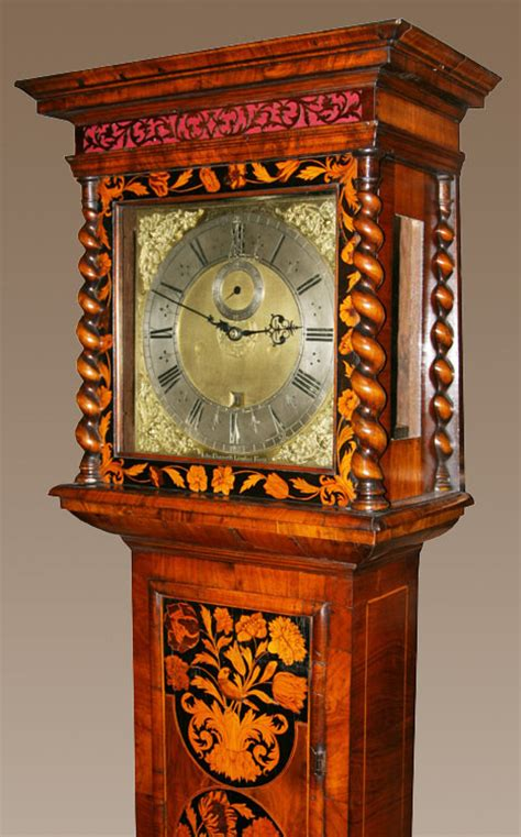 month duration marquetry longcase clock  john ebsworth
