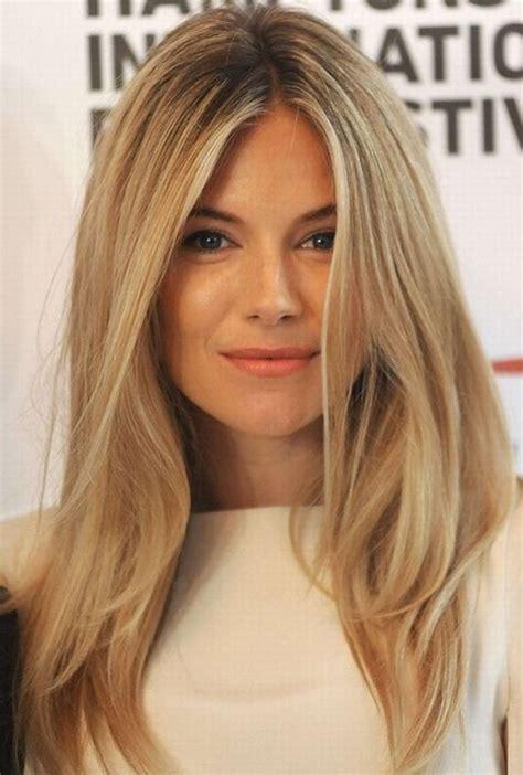 Sienna Miller Hair Style Blonde Straight Hair Popular
