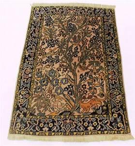 precieux tapis persan qom en soie avec arbre de la vie With tapis persan avec canapé valenciennes