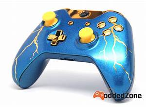 QuotBLUE THUNDERquot XBOX ONE MODDED CONTROLLER ModdedZone