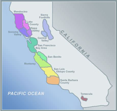 Alcoholbeveragecom  Map Of California Wine Regions
