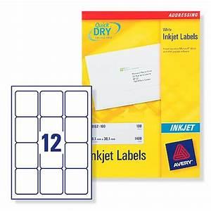 avery j8164 inkjet address labels 635x72mm 12 per sheet With avery labels 12 per sheet