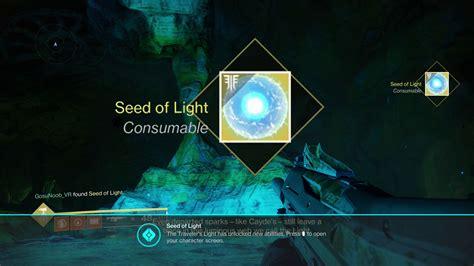 seeds of light how to get more seeds of light in destiny 2 forsaken