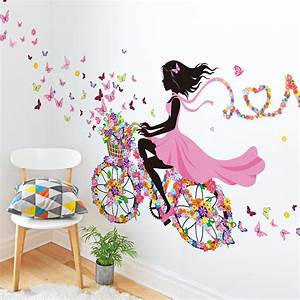 DIY Wall Decor Dancing Girl Art Wall Stickers For Kids