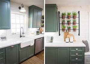 green cabinets fixer upper kitchen pinterest faucet With kitchen colors with white cabinets with magnolia market wall art