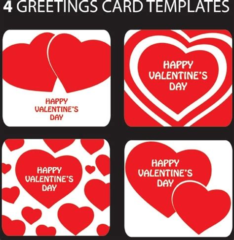 valentines day card templates day heartshaped greeting card template vector free vector in encapsulated postscript