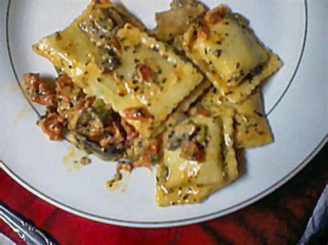 beef ravioli  basil cream sauce recipe genius kitchen