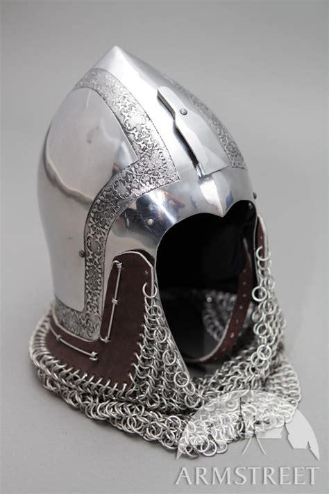 knight helmet bascinet klappvisor armour sca reenactment