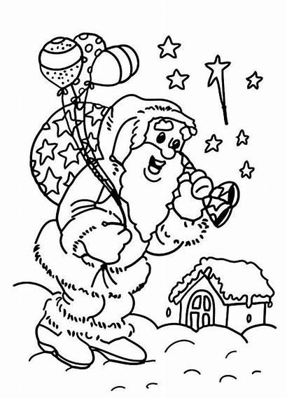 Coloring Christmas Eve Job Doing Santas