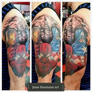 Marvel Tattoo Half Sleeve | www.pixshark.com - Images ...