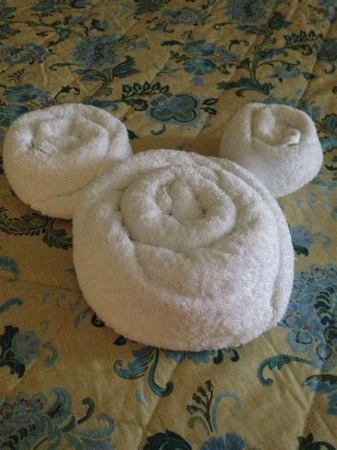 disney folded towel shaped  mickey mouse cute disney