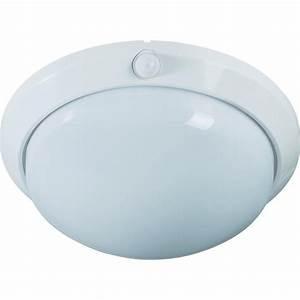 Lampe Détecteur De Mouvement Intérieur : plafonnier avec d tecteur de mouvements e27 60 w blanc ~ Dailycaller-alerts.com Idées de Décoration