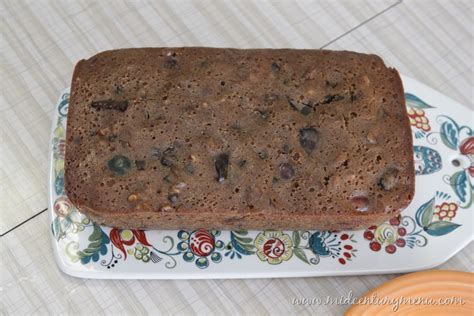 wessons famous fruit cake  mid century christmas