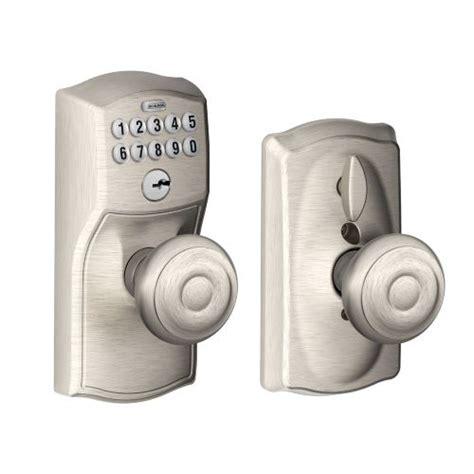 keypad door knob schlage fe595cam619geo camelot keypad entry with flex lock