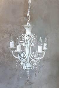 Shabby Chic Lampen : chic antique kronleuchter l ster lampe wei antik vintage landhaus shabby neu ebay ~ Orissabook.com Haus und Dekorationen