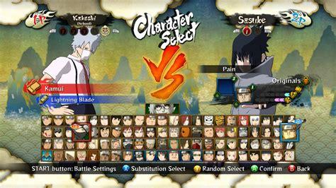 Naruto Ultimate Ninja Storm 3 Full Burst All Character