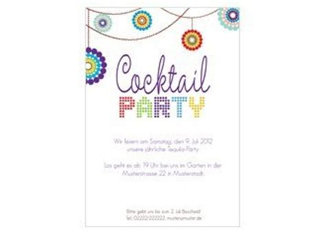 einladung cocktail party