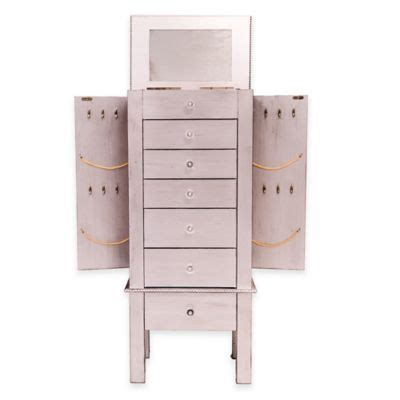 Jewellery Armoires Canada by Jewelry Armoire In Silver Leaf Bed Bath And