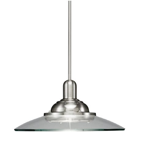 allen roth 18 1 2 in brushed nickel pendant light with
