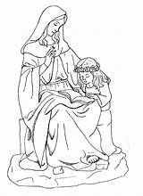 Coloring Mary Anne Pages St Saint Catholic Virgin Blessed Saints Anna Mother Joseph Clipart Sheets Lady Story Colouring Dominic Crafts sketch template