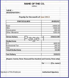 a payslip sample template With editable payslip template