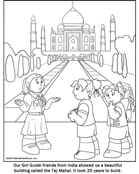 india girl guide coloring page makingfriends