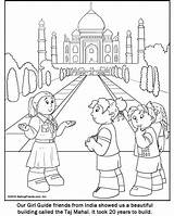 Coloring India Pages Guide Printable Indian Makingfriends Guides Scout Colouring Sheets Drawing Scouts Thinking Taj Mahal Crafts Cartoon Round Columbus sketch template