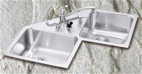 elkay corner kitchen sink corner kitchen sinks 7046