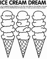 Ice Cream Coloring Pages Crayola sketch template