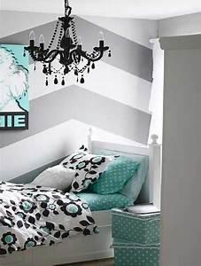 une chambre ado fille avec deco geometrique With deco chambre d ado fille