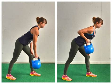 kettlebell exercises arm pulls row exercise fat strength bent rows single lunge redefiningstrength weight burn redefining abs biceps core