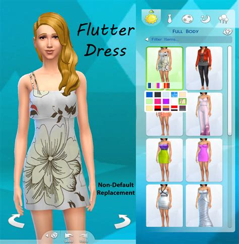 Budgie2budgie, flour, sims 4june 22, 2016. Mod The Sims - Floral Flutter Dress