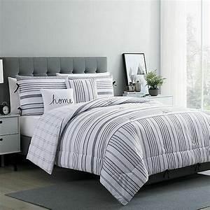 Vcny, Home, Carmen, 4, Piece, King, Comforter, Set, In, White