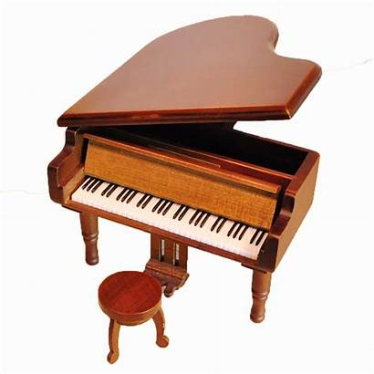 Box Wooden Piano Musical Wind Wood Antique