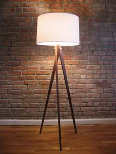 tripod floor lamp for a modern look inoutinterior With floor lamp wooden legs