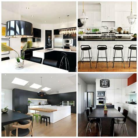 decoration cuisine noir et blanc cuisine noir et blanc une déco élégante et intemporelle