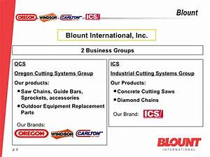 Blount B2B Project European Results
